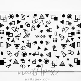 Наклейки Геометрия (YK049)