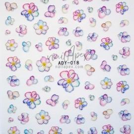 Наклейки «Nail Art Stickers» Акварельные цветы (ADY018)