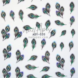 Наклейки «Nail Art Stickers» Перо Павлина (ADY020)