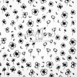 Наклейка «Lsika» Черные цветы (L312)