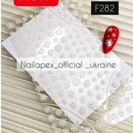 Наклейка Снежинки (F282)