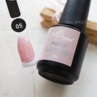 NAILAPEX «FRENCH BASE GEL» — №5 Камуфлирующая бежевая база с нежно-розовым перламутром (15мл)