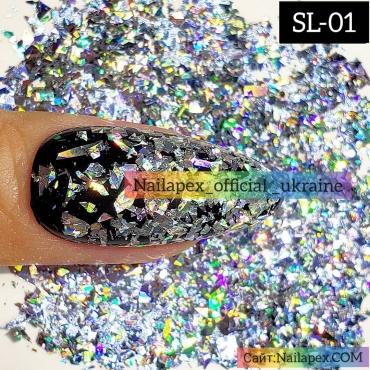 Голограммная слюда Nailapex (SL01)