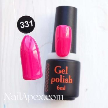 NailApex Gel Polish №331 гель-лак «Цвет Алёнки» (6мл) ч/б