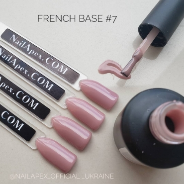 NAILAPEX «FRENCH BASE GEL» — №7 Камуфлирующая карамельная база (15мл)