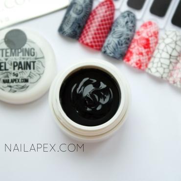 Гель-краска для стемпинга черного цвета — Nailapex stamping gel paint (5g)