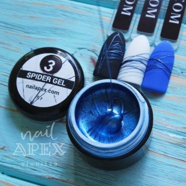 Паутинка гель Nailapex Professional Металлизированная синяя №3