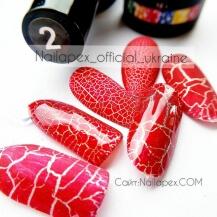 Гель-лак Nailapex CRACKLE №2 - Красный (10мл)