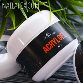 NailApex «Acryl CLEAR Gel» Soak Off (50g.) (в баночке) — Прозрачный UV/LED Акригель для ногтей
