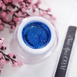 NailApex гель-краска Fantastik «BRILLIANCE» №007 — Синий блестящий