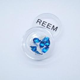 Декор для ногтей - капля (синяя)