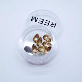 Декор для ногтей - капля (золото)