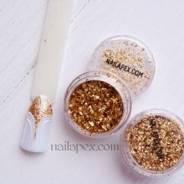 NAILAPEX «Хлопья» №17 — Голограммное золото