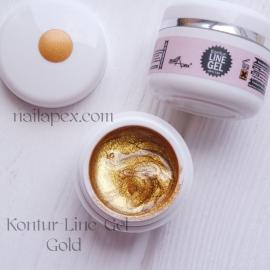 NailApex «Kontur-LINE Gel» (Золотой) Цветной «Контур гель-паста» для дизайна и прорисовки.