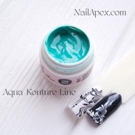 NailApex «Kontur-LINE Gel» (цвет Aqua) Цветной «Контур гель-паста» для дизайна и прорисовки.
