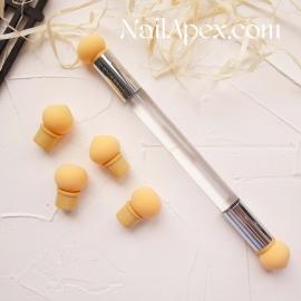 Аэрокисточка жёлтая для градиента и омбре (с запасками в комплекте 4 шт.)