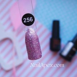 NailApex Gel Polish №256 гель-лак «Бриллиантовый Шиммер - Розовый» (6мл) ч/б