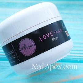 NAILAPEX «Love» French Cover Gel 50gr. (густий маскуючий LED&UV гель для моделювання нігтів)