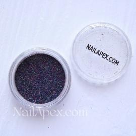 Песок Черный мелкий песок с мульти-блеском (№160)