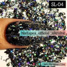 Голограммная слюда Nailapex (SL04)