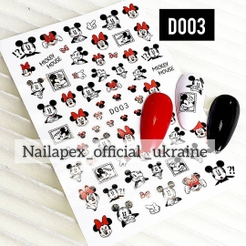 Наклейка Mickey Mouse Red (D003)