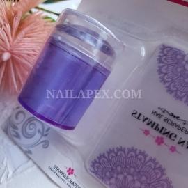 Штамп для стемпинга (фиолетовый)