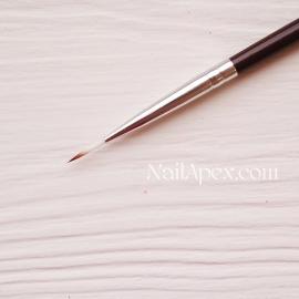 Кисть для мазковых рисунков №0 SLH™ NailBrush (темная ручка)