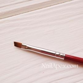 Кисть косая для рисования №2 SLH™ NailBrush (ручка бордо)