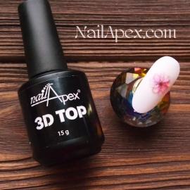 NAILAPEX «3D TOP» —  Густой топ для фиксации и создания объемного дизайна на ногтях