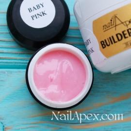 NailApex Моделирующий Крем гель «Baby Pink» (30g) Builder Gel — гель для ногтей