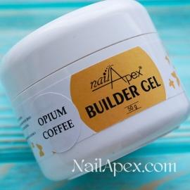NailApex Моделирующий Крем гель «Opium Coffee» (50g) Builder Gel — гель для ногтей