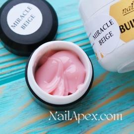 NailApex Моделирующий Крем гель «Miracle Beige» (30g) Builder Gel — гель для ногтей
