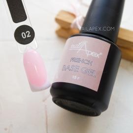 NAILAPEX «FRENCH BASE GEL» — №2 Камуфлирующая база беловато-розового цвета (15мл)