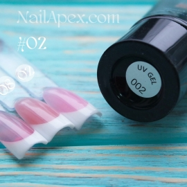 NailApex Acryl Gel №02 Soak Off (60ml) (в тюбике) — Ярко белый UV/LED Акригель для ногтей