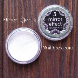 MIRROR effect White Hologram №5 зеркальный эффект
