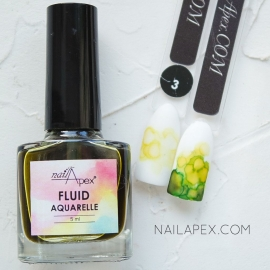 NAILAPEX «Акварельный Флюид» — №3 Жёлтый AQUARELLE FLUIDE (5ml)
