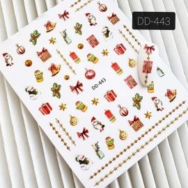 Наклейка (DD-443) Новогодние игрушки
