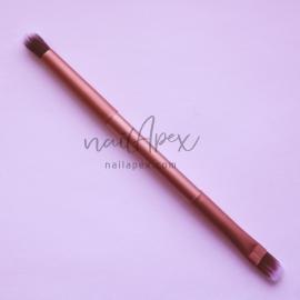 Двухсторонняя кисть для втирки и посыпки (бронзовая ручка)