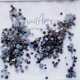 Стразы «Crystal» черный с фиолетовым оттенком (микс)