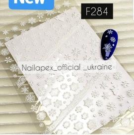 Наклейка Снежинки (F284)