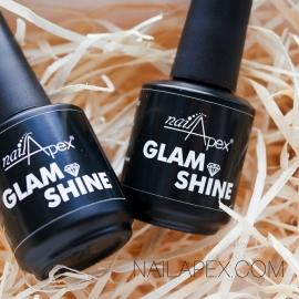 Nailapex «Glam Shine» Глем Шайн универсальный топ без липкого слоя с ультра глянцем